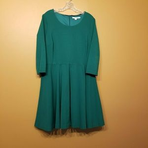 Boden | Fit & Flare Dress w/ Long Sleeves-Size 16R